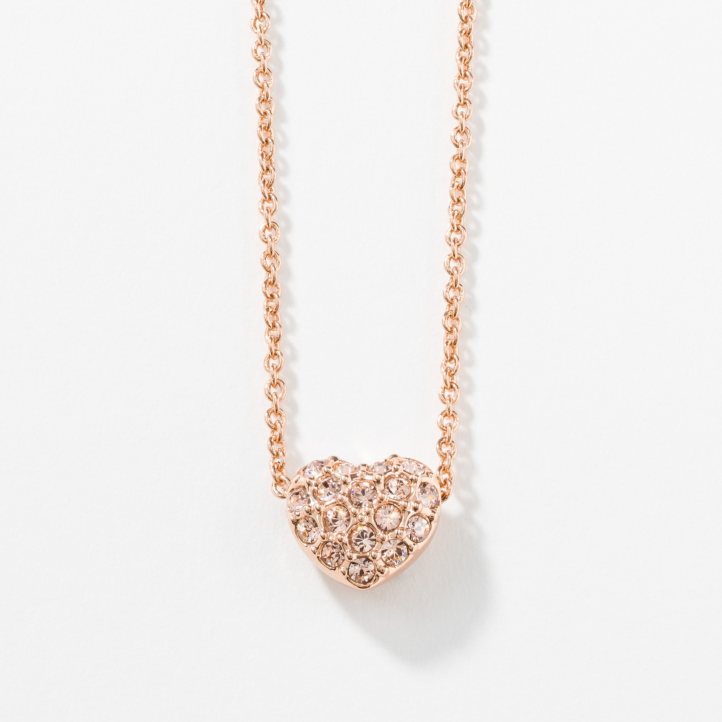necklace blush large products in brielle gold w white