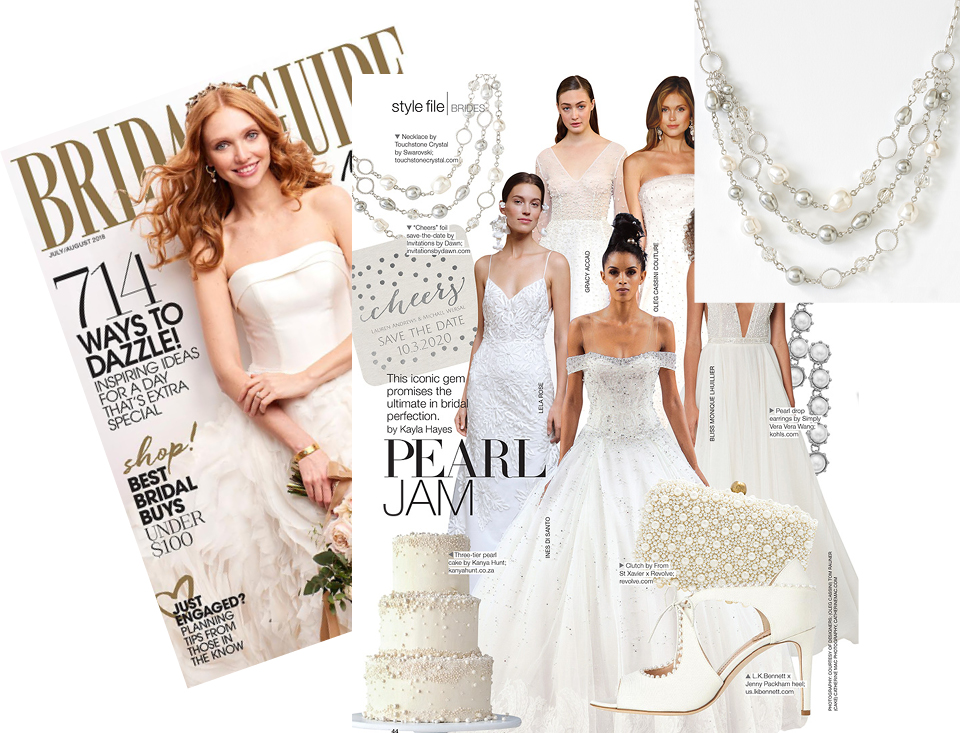 Bridal Guide Magazine featuring Touchstone Crystal South Seas Necklace