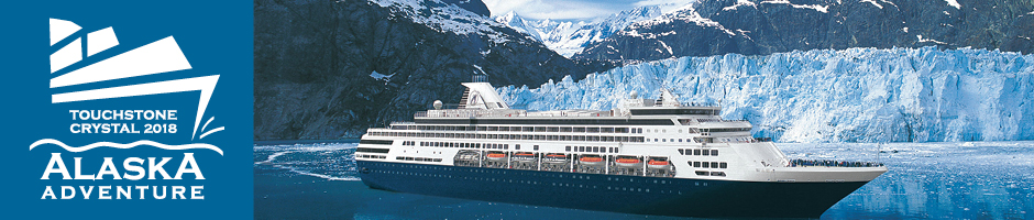 Touchstone Crystal Alaska Trip logo and cruise ship
