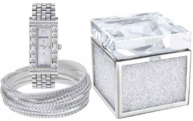 Swarovski Watch, Slake Bracelet and Treasure Box
